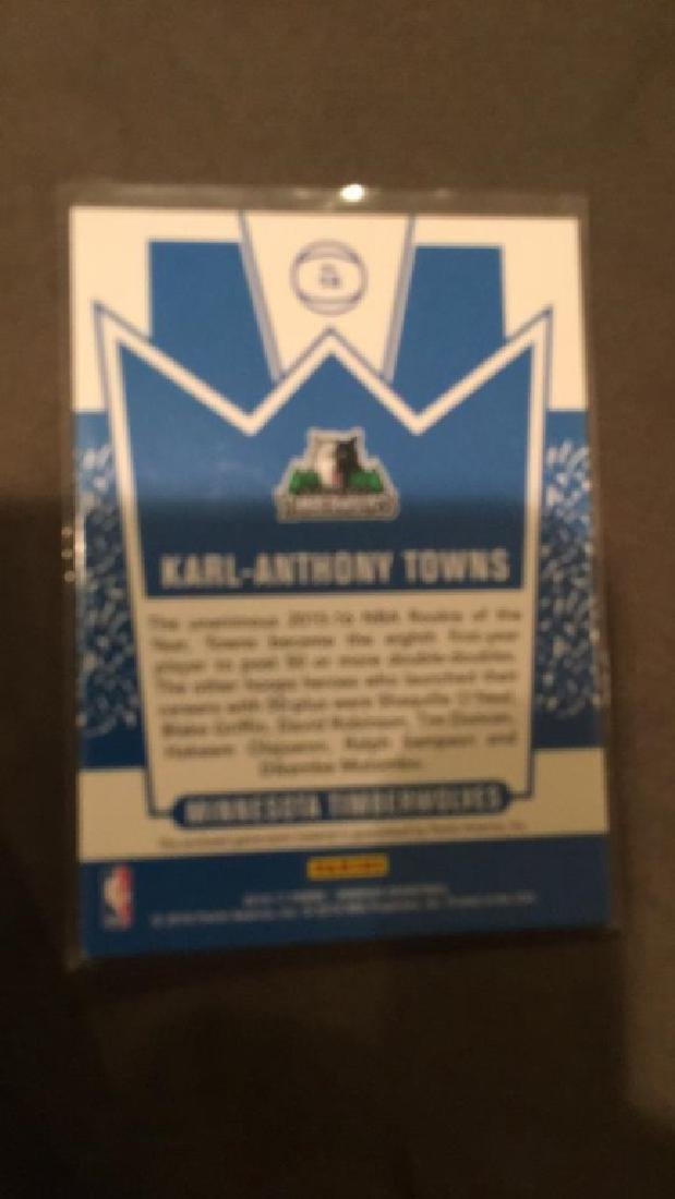Carl Anthony towns 2016 17 Donruss jersey kings - 2