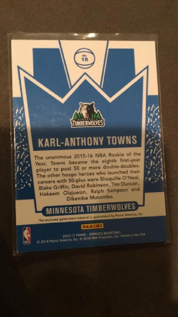 Carl Anthony towns 2016 17 Donruss jersey kings - 3