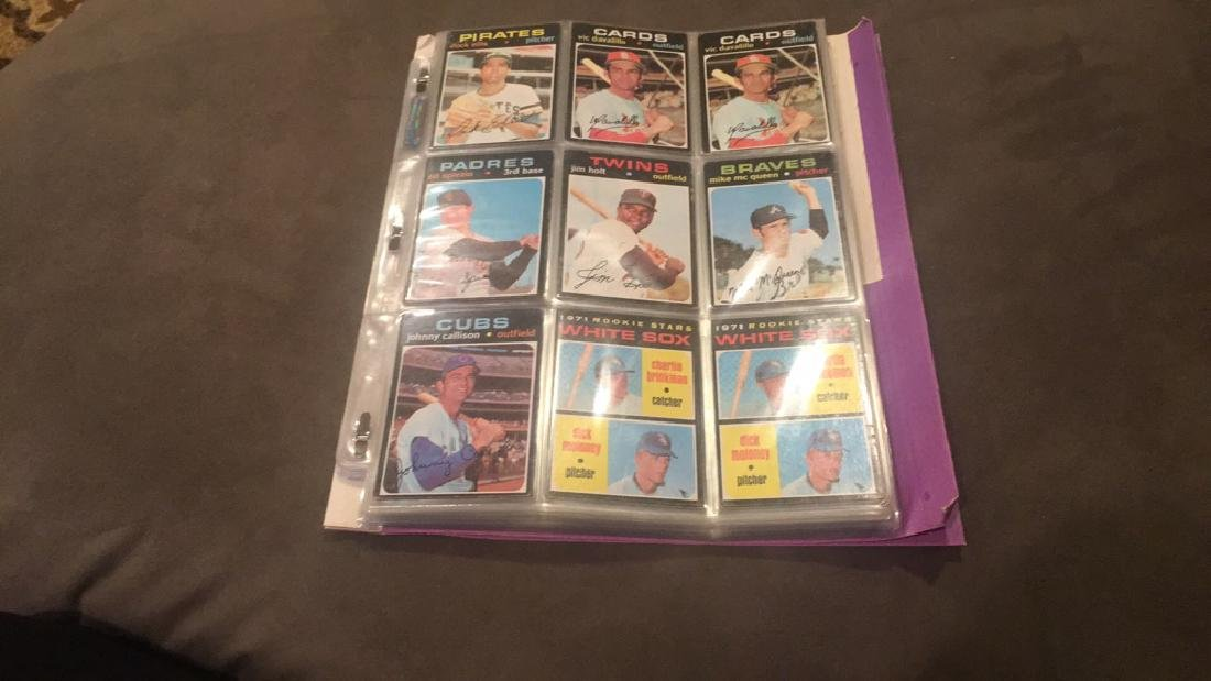 1971 tpops nine card lot doc Ellis Mike McQueen