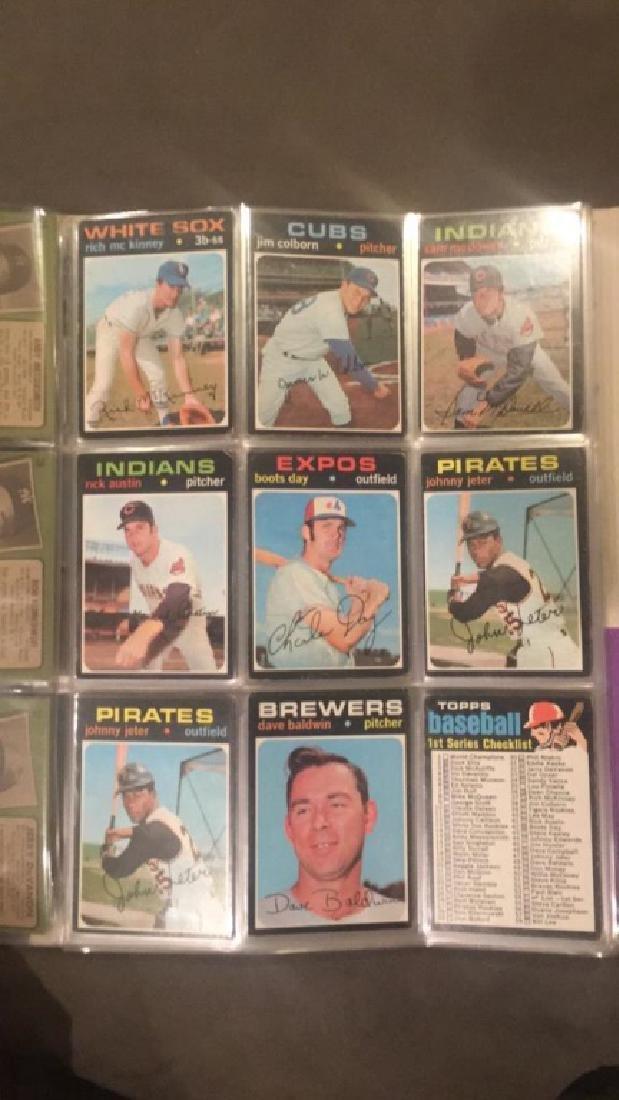 1971 tops vintage baseball nine card lot Johnny