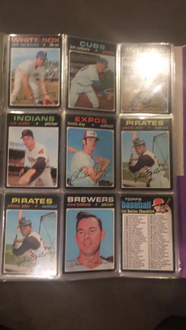 1971 tops vintage baseball nine card lot Johnny - 2