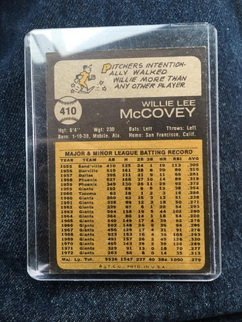 Willie Mccovey 1973 Topps Vintage card - 2