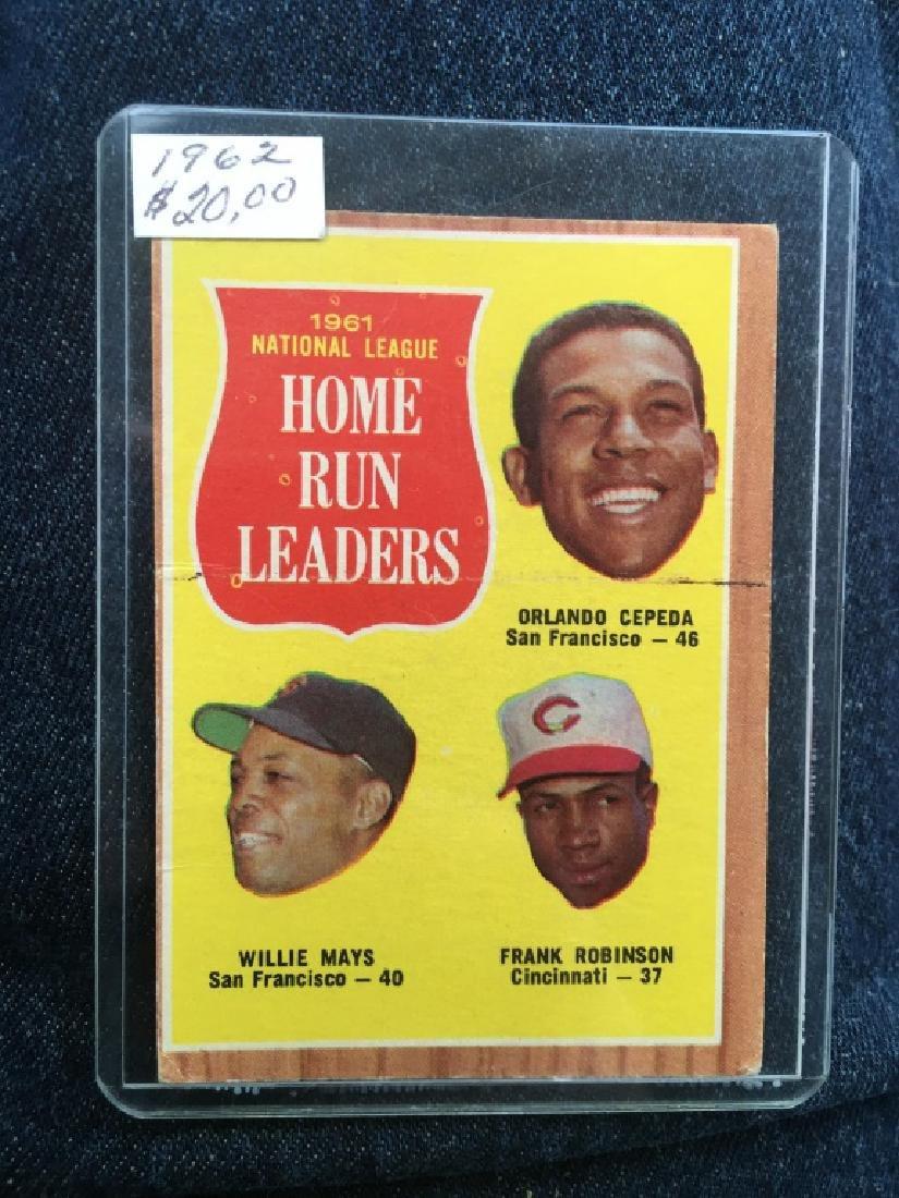 1962 TOPPS BASEBALL #54 N.L. HOME RUN LEADERS WILN