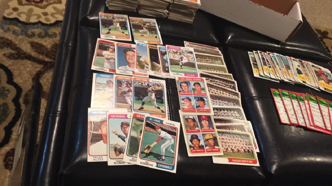 1974 Topps 470+- vintage baseball card lot with - 3