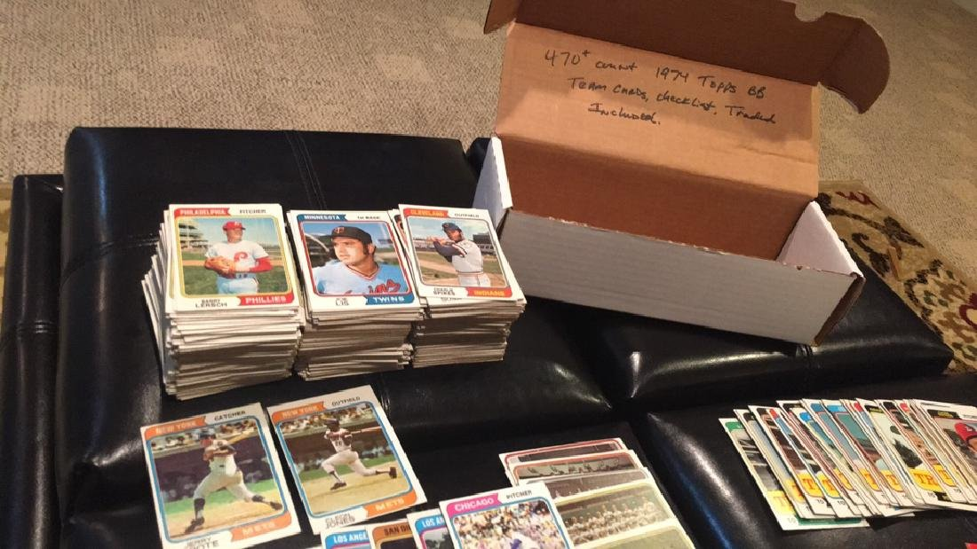 1974 Topps 470+- vintage baseball card lot with - 4