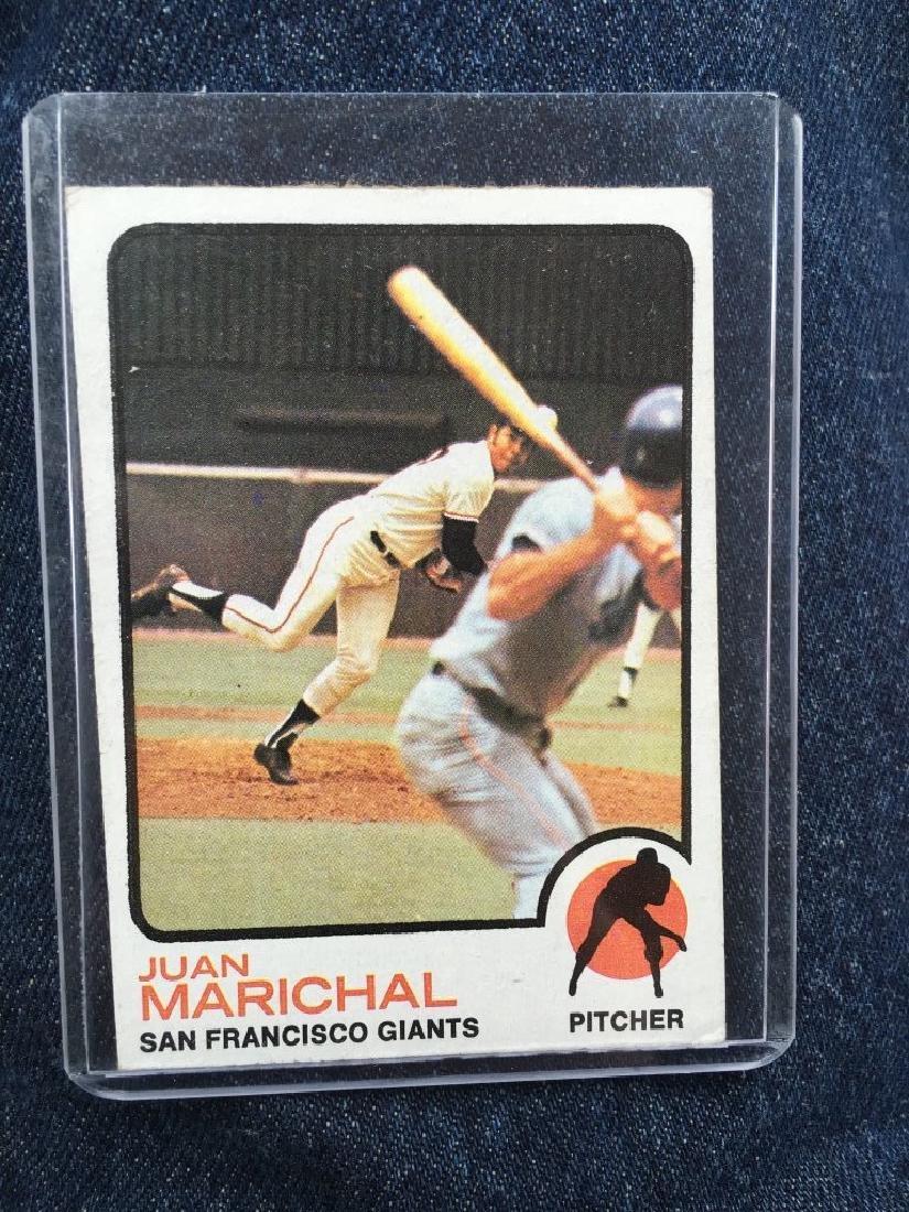 Juan Marichial 1973 Topps card Vintage