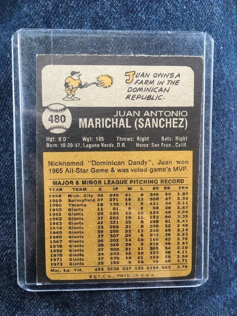 Juan Marichial 1973 Topps card Vintage - 2