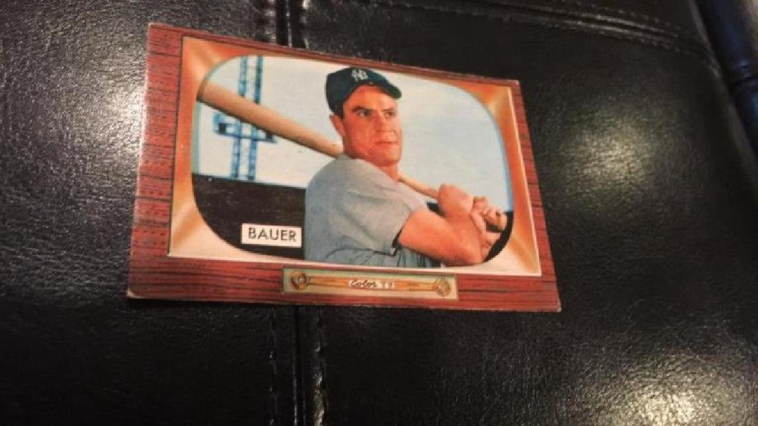 1955 Bowman Hank Bauer nice card New York Yankees
