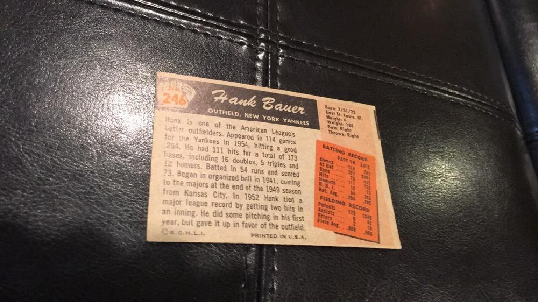 1955 Bowman Hank Bauer nice card New York Yankees - 2