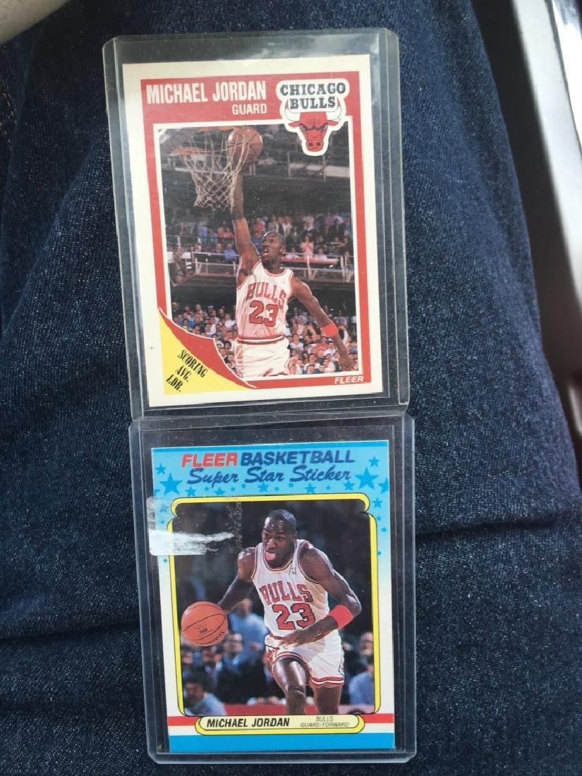 Michael Jordan 1988-89 Sticker and 1989-90 Fleer