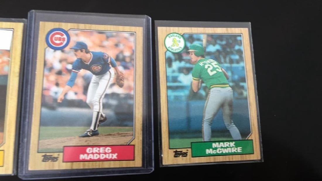 1987 tops Barry bonds Greg Maddux Mark McGwire - 3