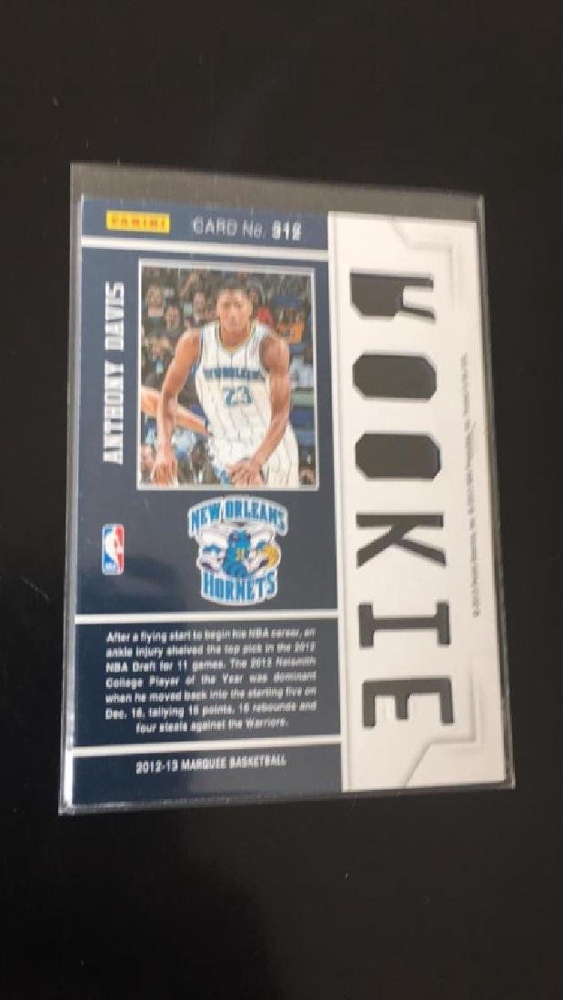 Anthony Davis 2012 13 Panini marquee rookie card - 2