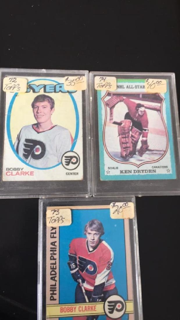 Vintage Hall of Fame hockey lot Bobby Clarke 1972 - 2