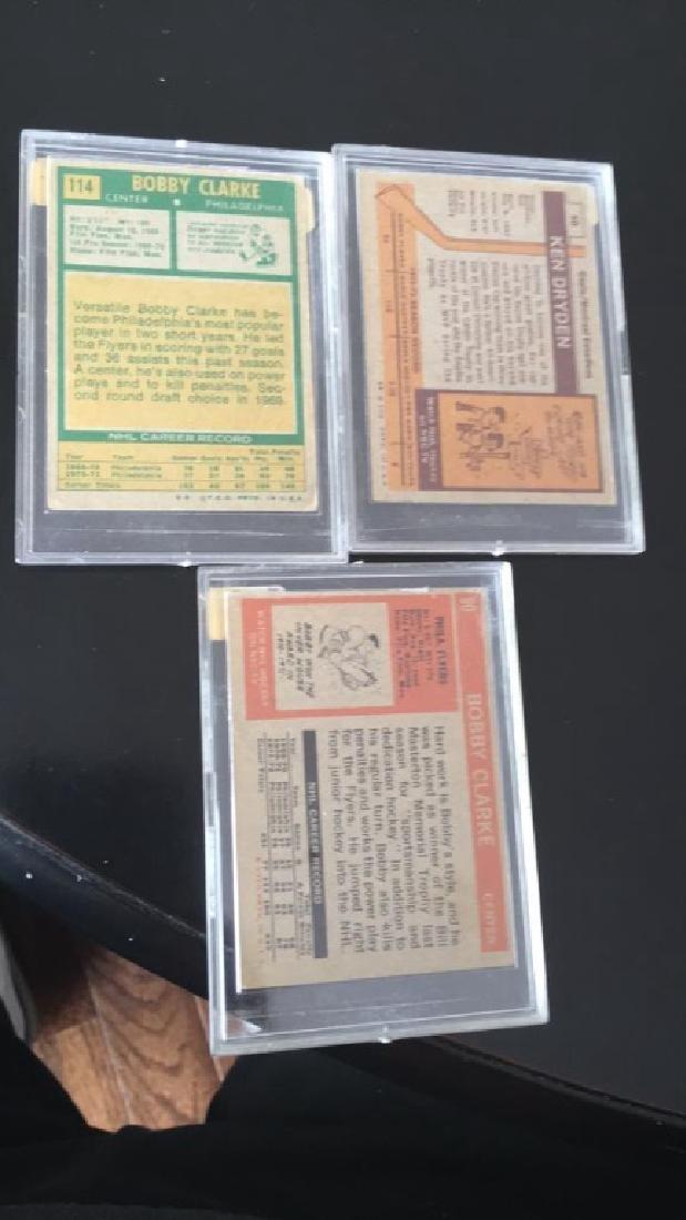 Vintage Hall of Fame hockey lot Bobby Clarke 1972 - 3