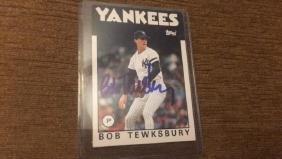 Bob Tewksberry 1985 tops vintage autograph nice