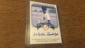 Willie Randolph 2003 Yankee signature series on