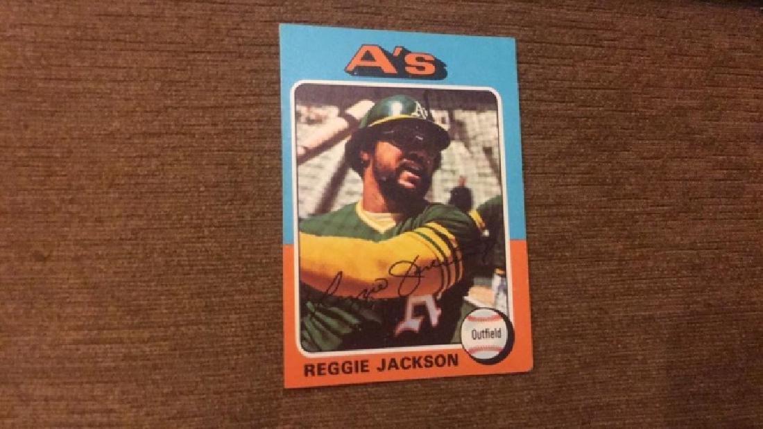 Reggie Jackson 1975 topps nice shape