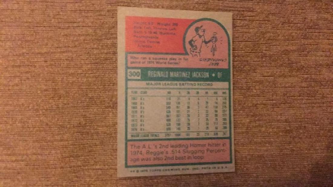 Reggie Jackson 1975 topps nice shape - 2