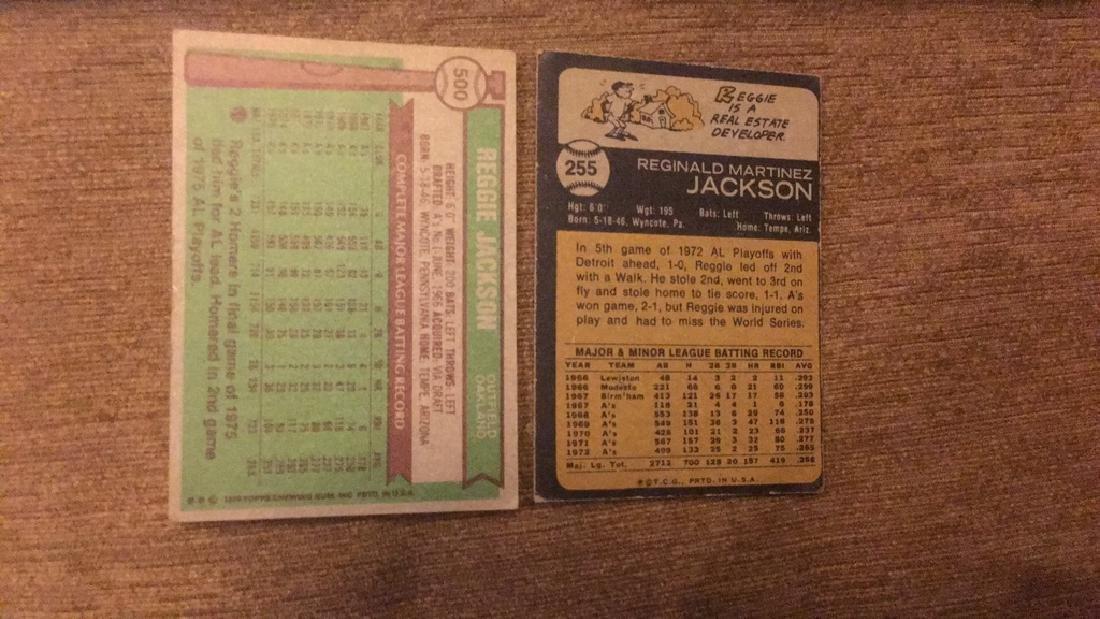 Reggie Jackson 1973 topps in 1976 topps vintage - 2