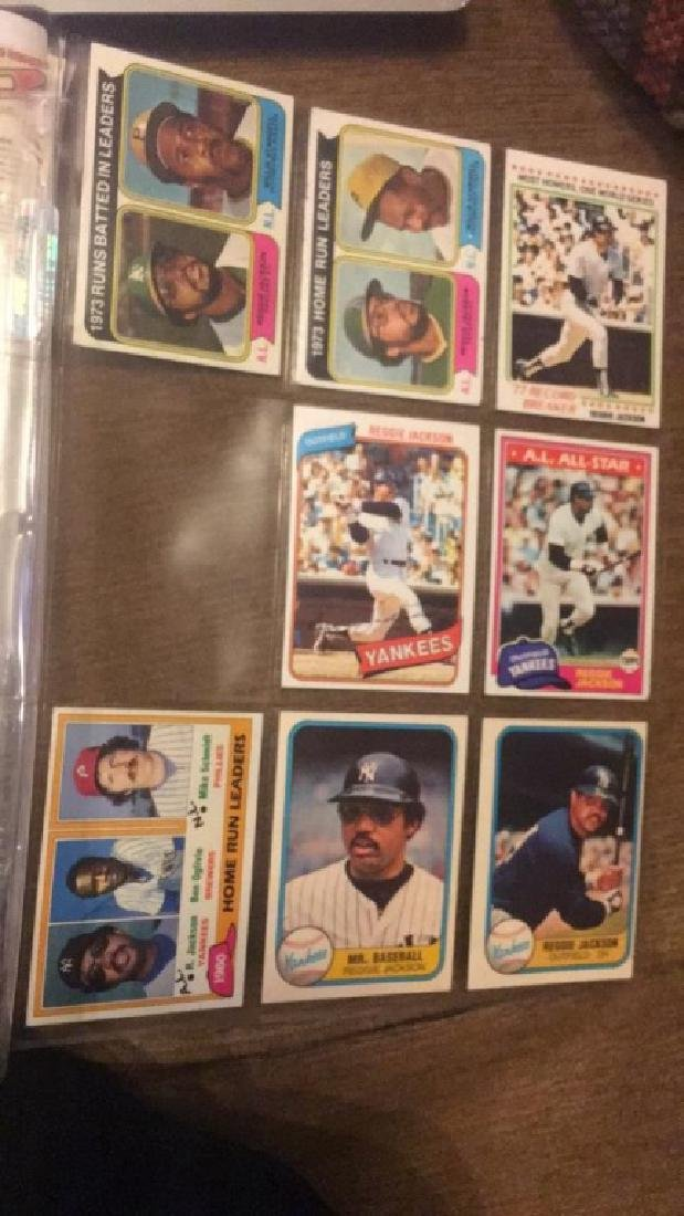 Reggie Jackson 1970s and early 80s vintage card