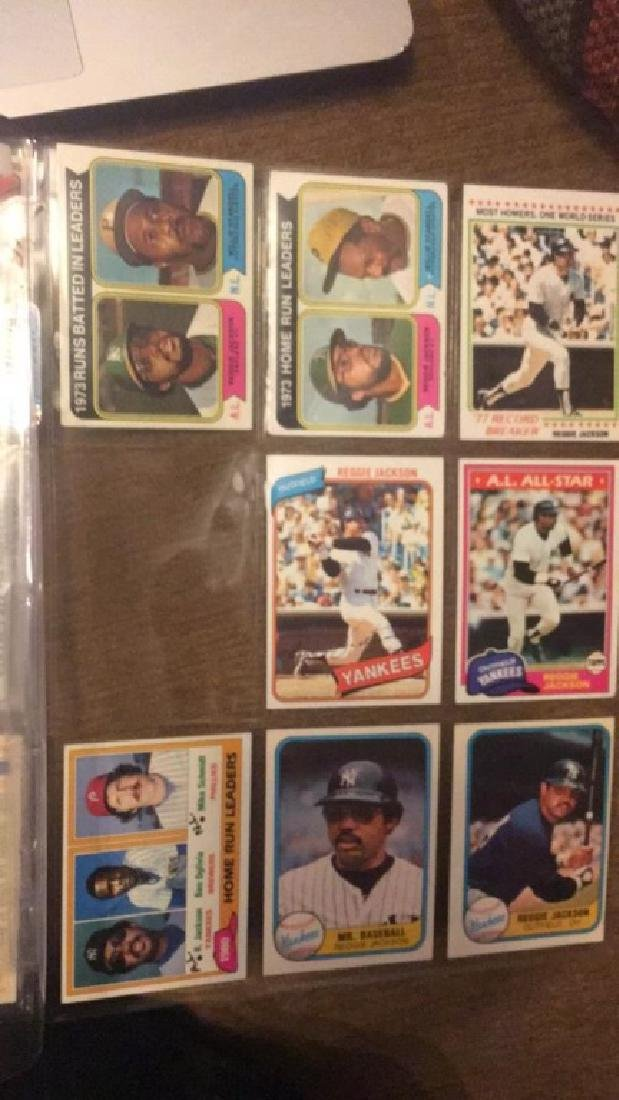 Reggie Jackson 1970s and early 80s vintage card - 2