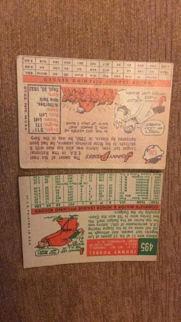 Johnny Podres 1958 and 59 topps vintage baseball - 2