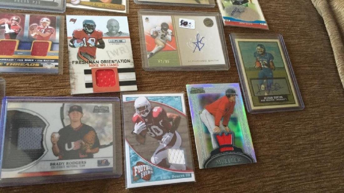 Lot of 20 autograph patch jersey cards and a gold - 3