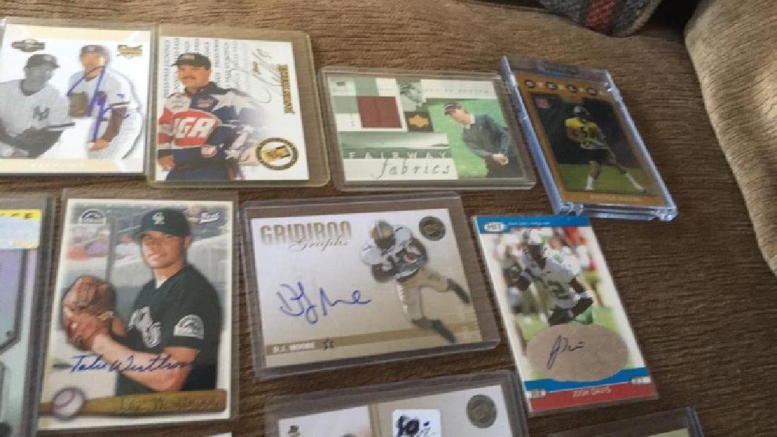 Lot of 20 autograph patch jersey cards and a gold - 4