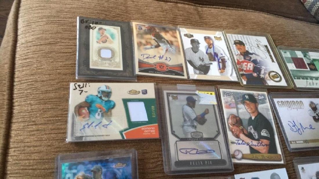 Lot of 20 autograph patch jersey cards and a gold - 5