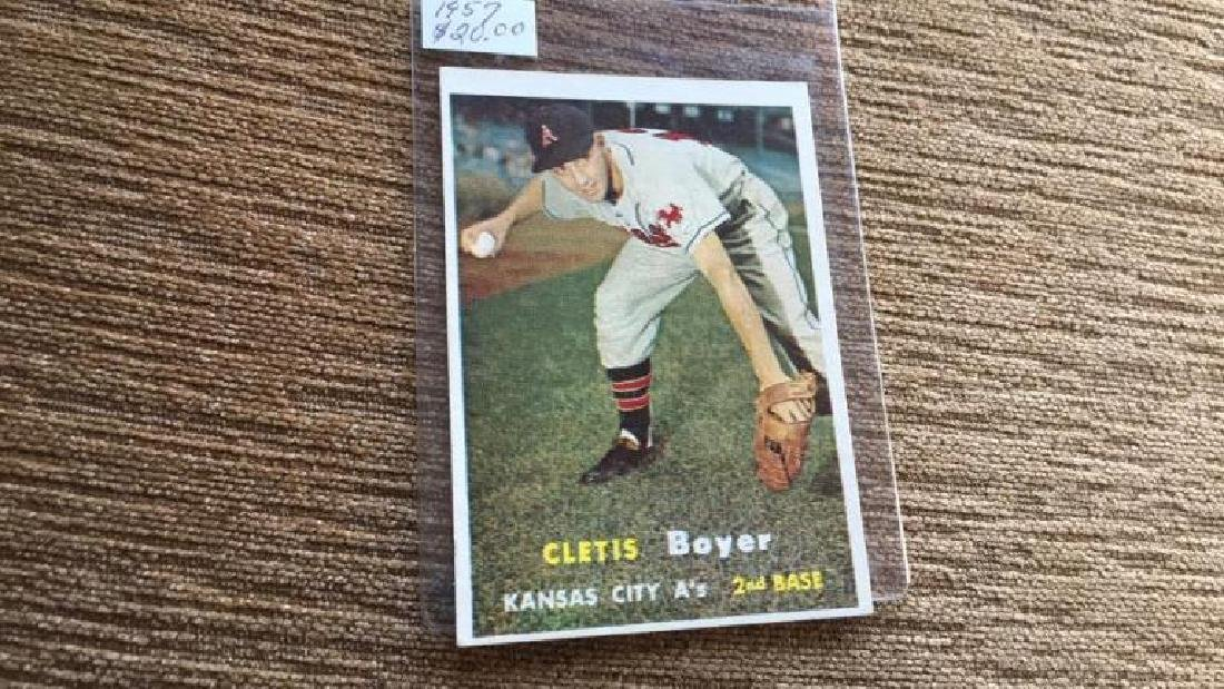 Cletis Boyer 1957 topps very nice shape no creases