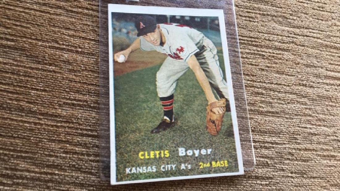 Cletis Boyer 1957 topps very nice shape no creases - 2