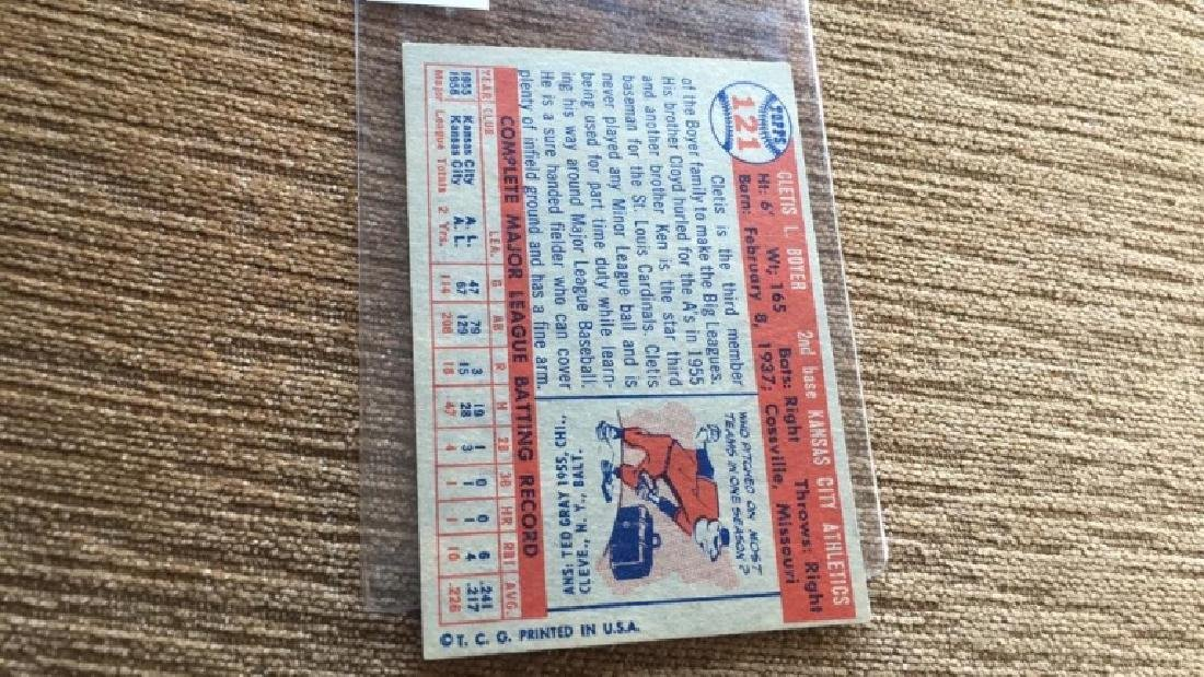 Cletis Boyer 1957 topps very nice shape no creases - 3