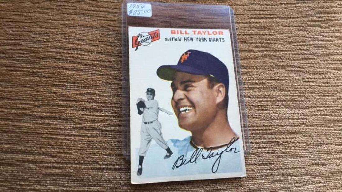 Bill Taylor 1954 Topps nice shape no creases