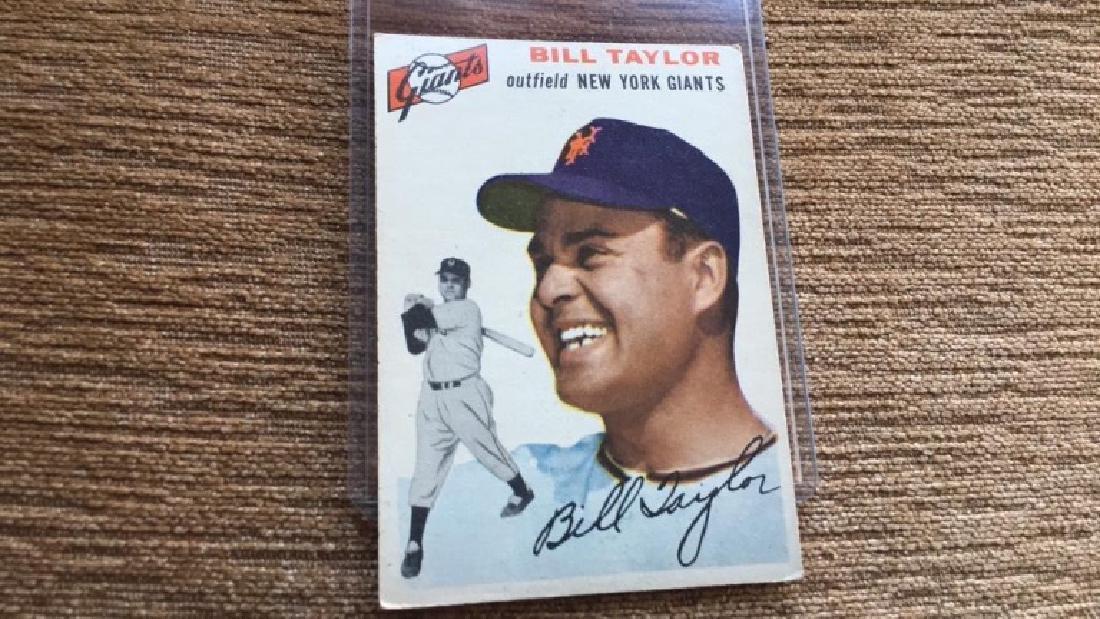 Bill Taylor 1954 Topps nice shape no creases - 2