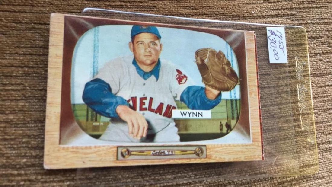 Early wynn 1955 Bowman nice card good color - 2