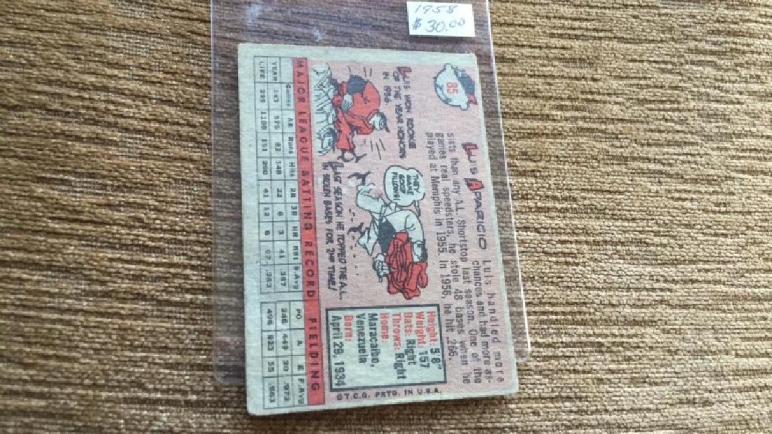 Luis Aparicio 1958 topps vintage baseball card - 3
