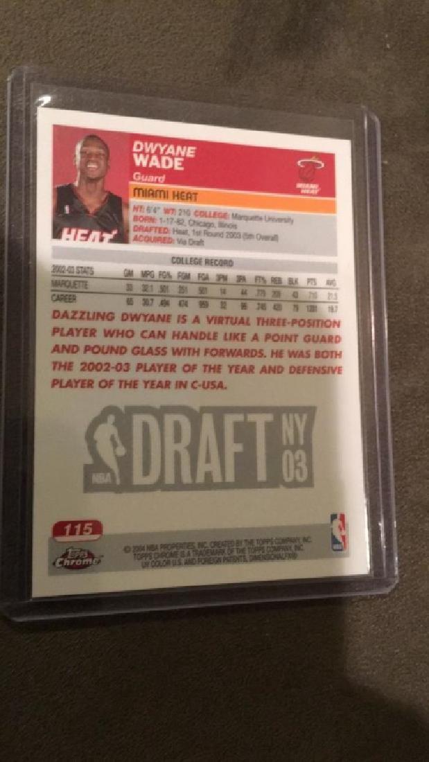 Dwayne Wade 2003-04 Topps chrome rookie - 2