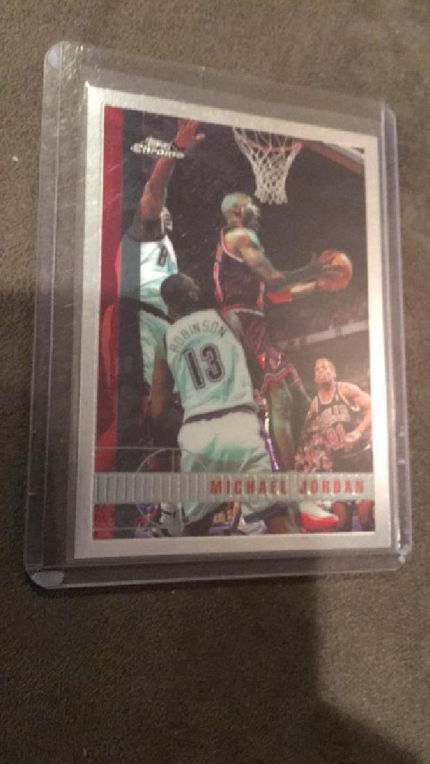 Michael Jordan 1997-98 topps chrome number 123