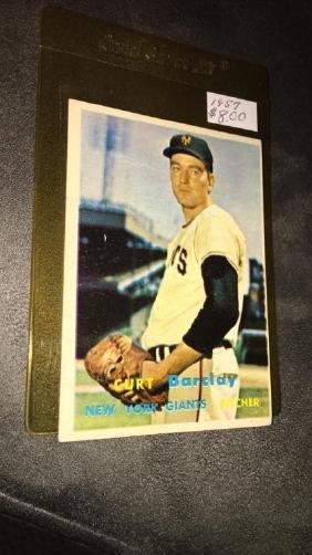 Curt Barclay 1957 topps vintage baseball card