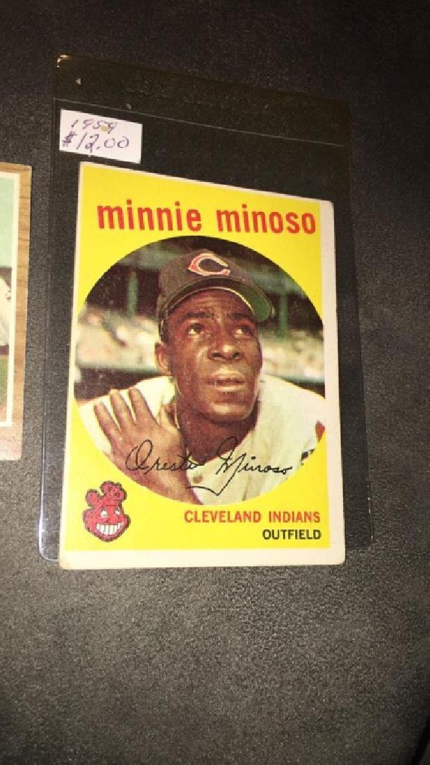Minnie Minoso 1958 topps vintage baseball card - 2
