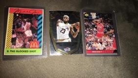 Michael Jordan and LeBron James basketball
