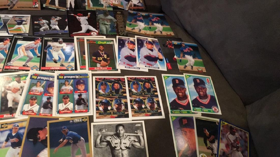 Huge baseball card rookie insert lot Dave justice - 4