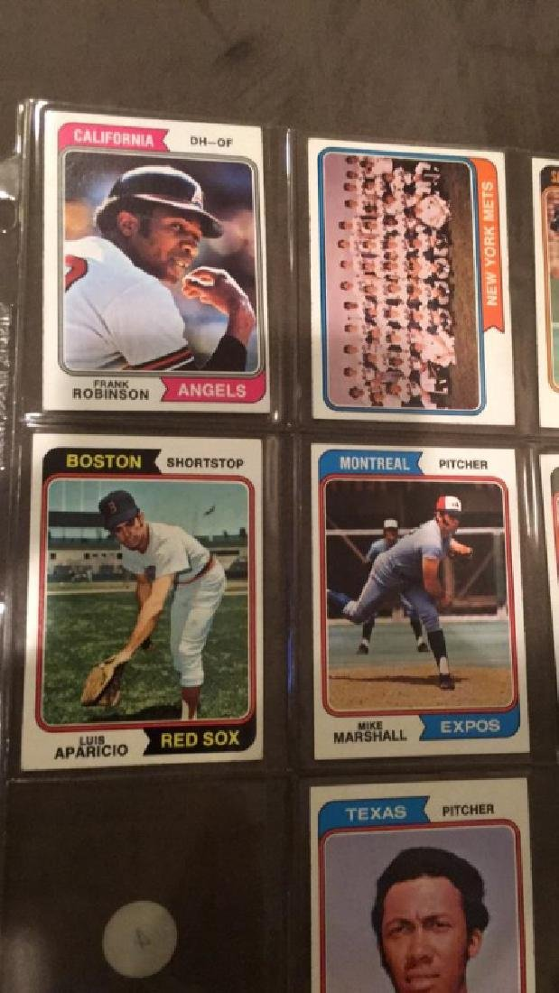 1974 tops baseball card lot one Marshall Frank - 2