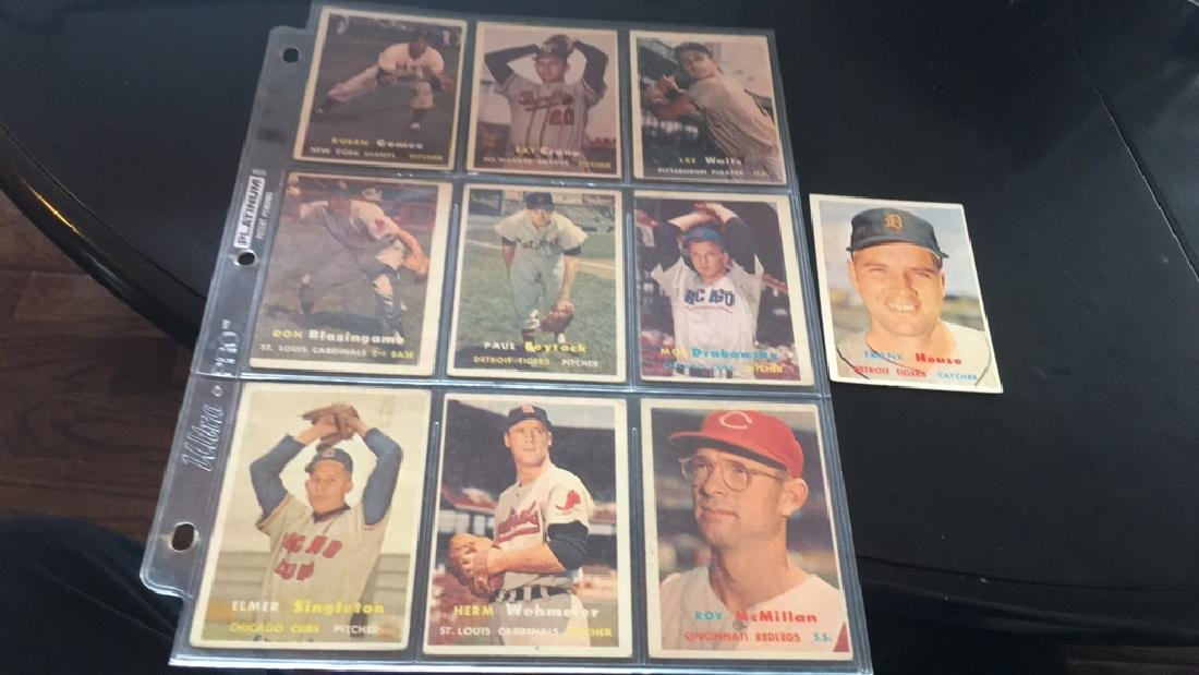 1957 topps 10 card lot nice lot