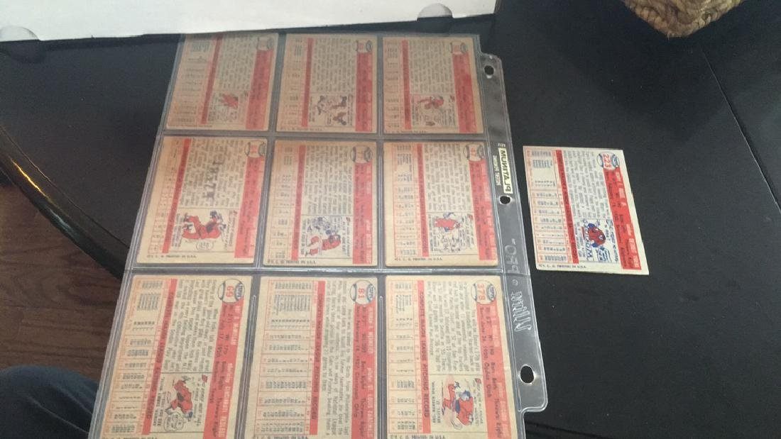 1957 topps 10 card lot nice lot - 5