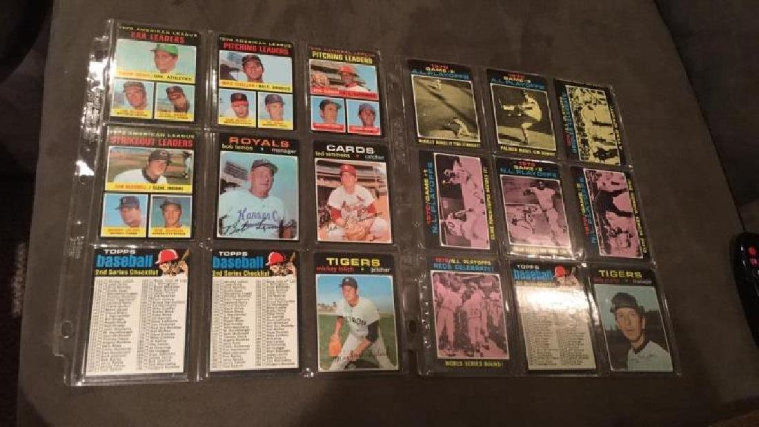 1971 tops 18 card lot problem and Ted Simmons