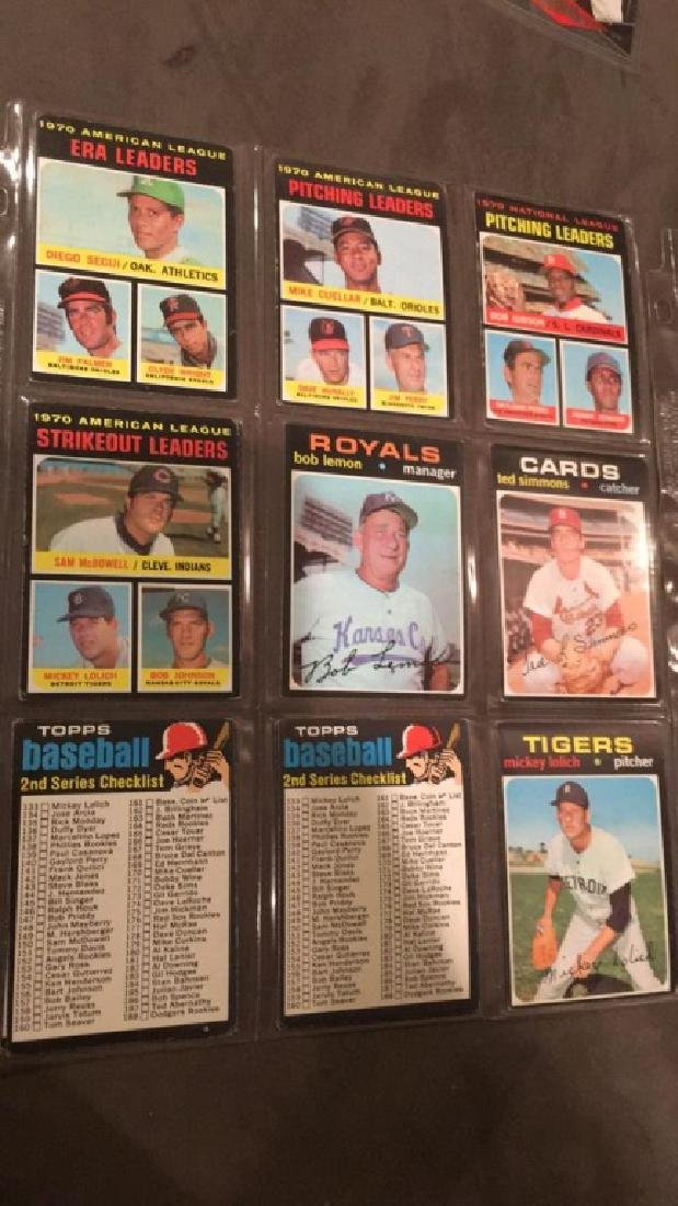 1971 tops 18 card lot problem and Ted Simmons - 2