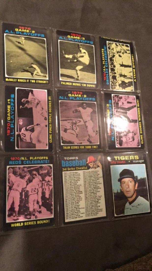 1971 tops 18 card lot problem and Ted Simmons - 3