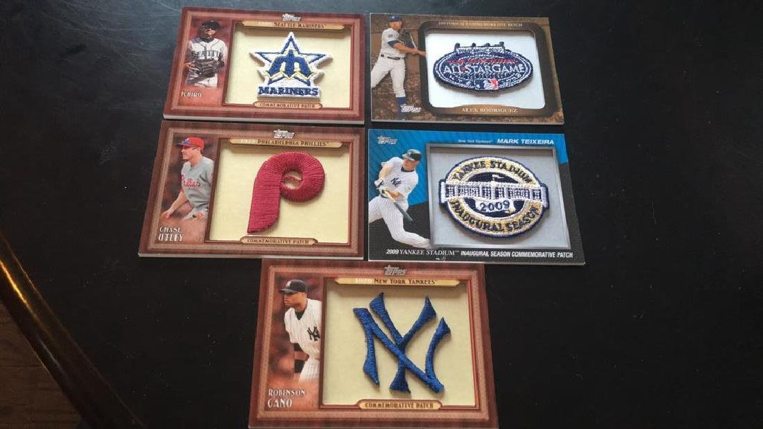 2011 Topps Commemorative Patch lot  Alex Rodriguez
