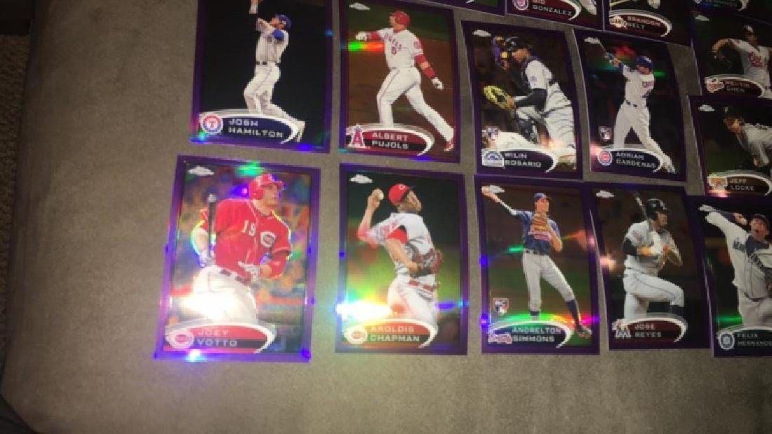 19 2012 Topps chrome purple refractors lots of - 3
